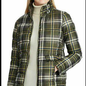 Women's Ralph Lauren Plaid Puffer Coat